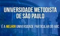Metodista é, novamente, melhor Universidade particular do ABC
