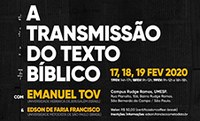 """FATEO promove encontros com o tema """"Transmissão do Texto Bíblico"""""""