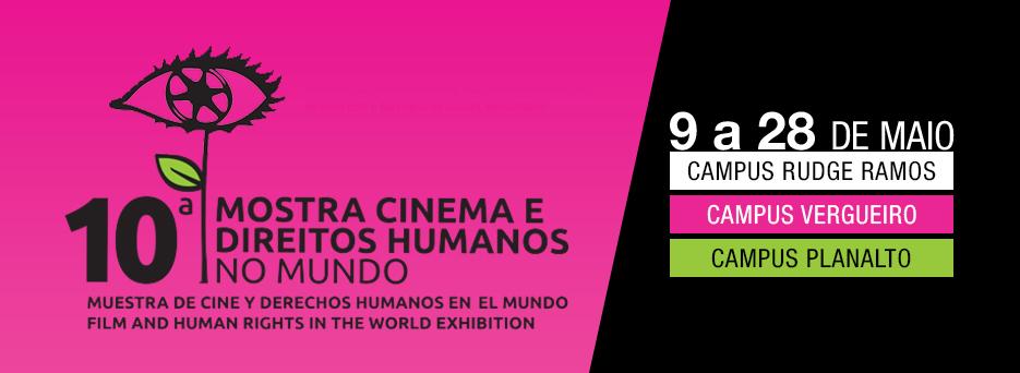 Banner da mostra de direitos humanos