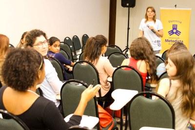 Carla participa durante palestra sobre oportunidades. Foto: Anderson Rodrigues