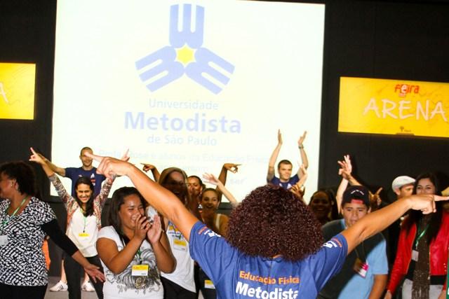 Atividade na Feira Guia do Estudante informa e diverte vestibulandos. Foto: Anderson Rodrigues